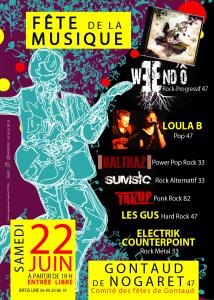 affiche Efflo Mag Langon pour fête de la zik à Gontaud 220613