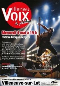 affiche Festival Villeneuvoix 2016