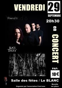 affiche concert Le Blanc