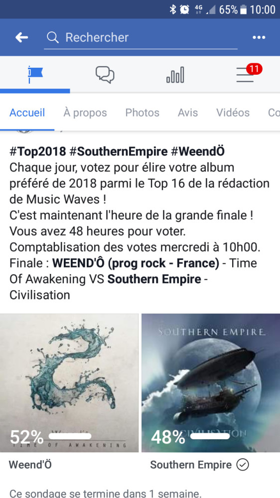 Musicwaves battle meilleur album 2018 # Weendo # Southern Empire