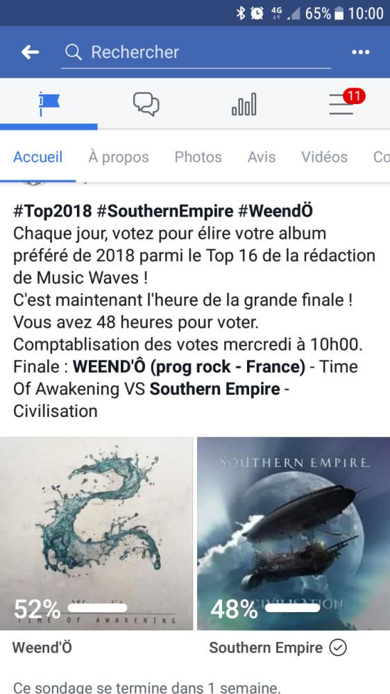 Musicwaves battle meilleur album 2018 # Weendo # Southern Empire